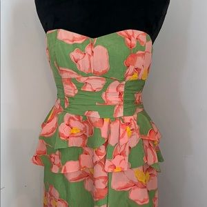Nanette Lepore Silk Strapless Dress 6